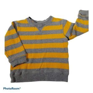 🎈2 for $15 3T yellow and gray striped sweater